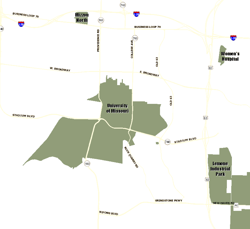 Mu Campus Parking Map