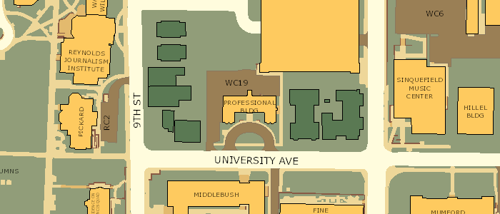 Mizzou Campus Map